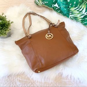 Michael Kors | Large Camel Colored Leather Tote